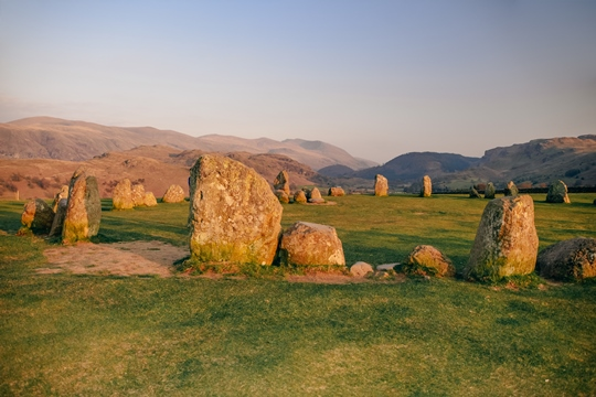 Lake District attractions: Castlerigg Stone Circle may not be as famous as Stonehenge, but this Lake District's mini Stonehenge has a more dramatic setting. Castlerigg Stone Circle is a unique National Trust attraction in the Lake District. Walk around the stones which have been here for thousands of years and enjoy spectacular views of the surrounding fells.
