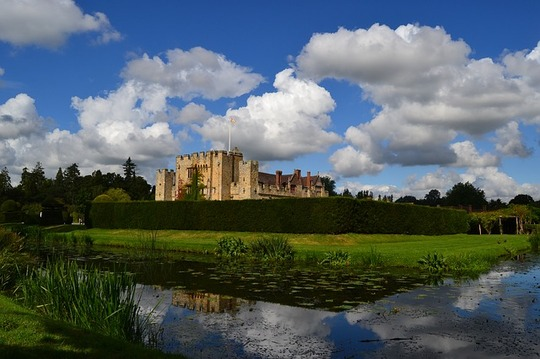 castles in England: Hever Castle is one of the best castles in England because in the past, Hever Castle was a childhood home of Henry VIII's second wife – Anne Boleyn. Today, opulent Hever Castle with Tudor additions is one of the best medieval castles in England. It has stunning gardens, Tudor portraits, tapestries and offers beautiful views of Hever Lake.