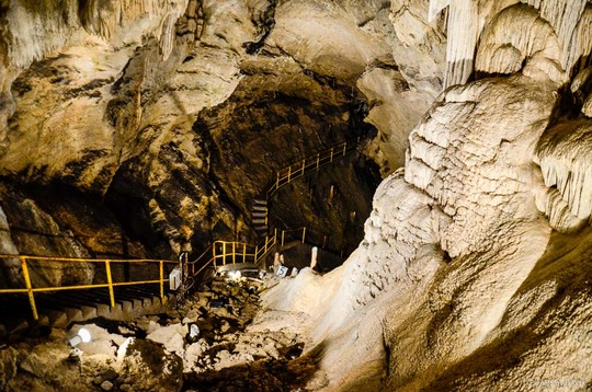 High Tatras Slovakia: Belianska Cave is one of the most visit caves in Slovakia and one of the top attractions in the High Tatras. This beautiful cave with stalagmites, flowstone waterfalls and numerous pools is also famous for clinic therapy. It was one of the first electrified caves in Europe.