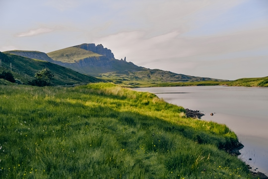 things to do in Isle of Skye: Stopping at Loch Fada is one of the unique things to do in the Isle of Skye because this peaceful lake offers beautiful views of the island's most famous landmark. Romantic Loch Fada is located just a few minutes drive south of the Storr.