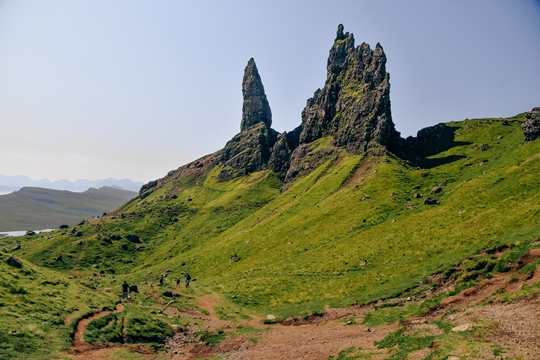 things to do in the Isle of Skye: Exploring the Old Man of Storr is one of the best things to do in the Isle of Skye because the Old Man of Storr is a symbol of the island. It is also the most famous hike on the Isle of Skye. It offers stunning views and also some of the best photo opportunities on the island.