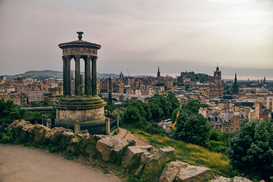 places to visit in Edinburgh: One of the beautiful places to visit in Edinburgh is Calton Hill because it has one of the best viewpoints in the city. It was one of the first public parks in the country, and it has a collection of Greek-style monuments which are well worth a visit.
