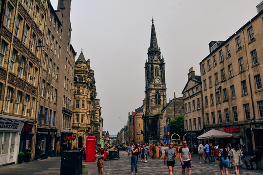attractions in Edinburgh: The Royal Mile is one of the top attractions in Edinburgh because it is one of the main streets in the city. Also, it has some of the oldest buildings in Edinburgh. It is approximately one mile long and you can find here many shops, churches and restaurants. It is UNESCO Heritage Site.
