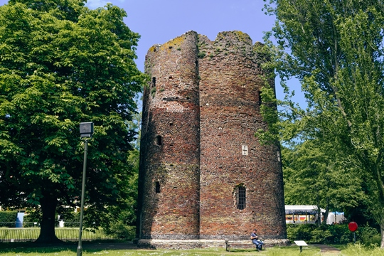 attractions in Norwich: The Cow Tower is one of the attractions in Norwich because it is one of the English Heritage Sites. It is a brick tower built as a strategic point in the city defence. It was used as an artillery tower.